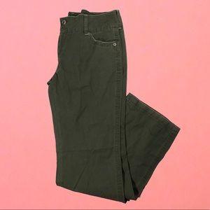 NWT wet seal wide waist canvas pesto green shirt